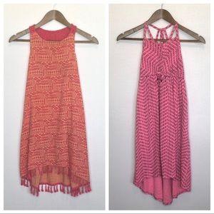 Girls' Cat & Jack Set of 2 Orange & Pink Dresses